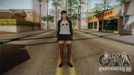DoA 5: LR - Lei Fang Panda Shirt Long Hair для GTA San Andreas второй скриншот