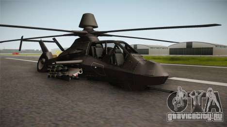 RAH-66 Comanche with Pods Retracted для GTA San Andreas вид справа