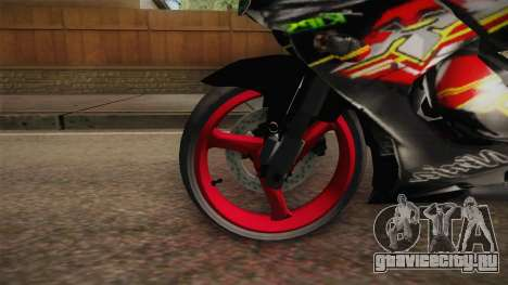 Kawasaki RR 150 для GTA San Andreas вид сзади