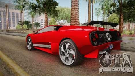 GTA 5 Pegassi Infernus Cabrio для GTA San Andreas вид слева