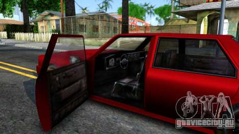 Vincent German Style для GTA San Andreas вид изнутри