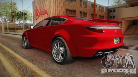GTA 5 Ocelot Jackal 2-doors для GTA San Andreas вид слева