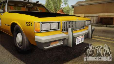 Chevrolet Caprice Taxi 1986 IVF для GTA San Andreas вид сбоку