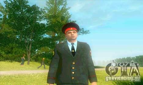 Капитан милиции России в кителе для GTA San Andreas второй скриншот