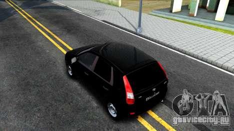 ВАЗ 2119 Калина для GTA San Andreas вид сзади