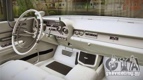 Cadillac Eldorado Brougham 1957 IVF для GTA San Andreas вид изнутри