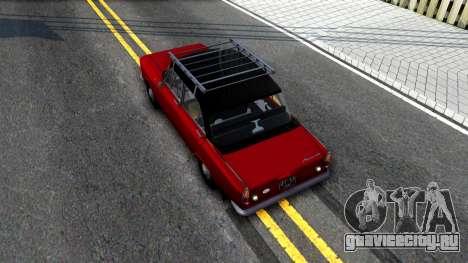 АЗЛК-408 для GTA San Andreas вид сзади