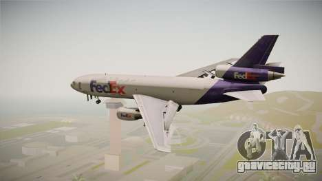 McDonell-Douglas DC-10-30F Fedex для GTA San Andreas вид справа