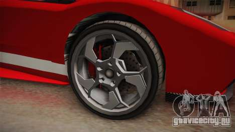 GTA 5 Pegassi Infernus Cabrio для GTA San Andreas вид сзади