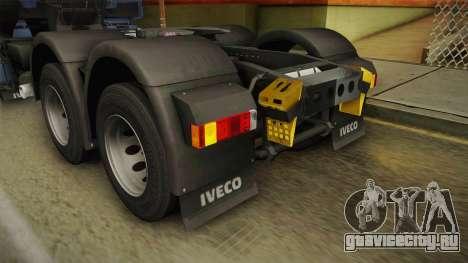 Iveco Stralis Hi-Way 560 E6 6x4 v3.2 для GTA San Andreas салон