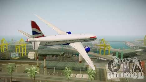 Boeing 787 British Airways для GTA San Andreas вид слева