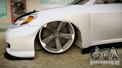 Honda Civic İ-Vtec для GTA San Andreas вид сзади