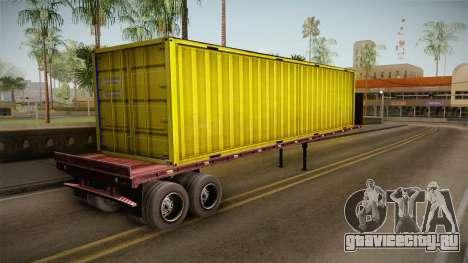 Yellow Trailer Container HD для GTA San Andreas вид слева