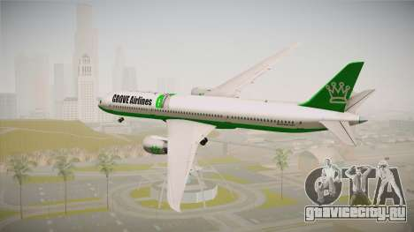 Boeing 787 Grove Airlines для GTA San Andreas вид слева