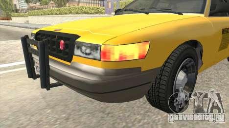 GTA 4 Taxi Car SA Style для GTA San Andreas вид изнутри