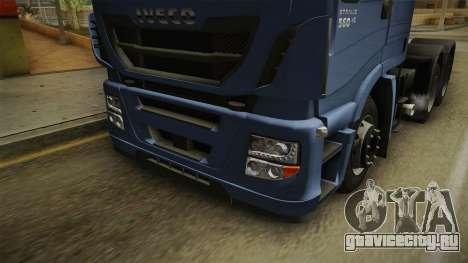 Iveco Stralis Hi-Way 560 E6 6x4 v3.2 для GTA San Andreas вид сбоку