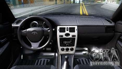 ВАЗ 21728 для GTA San Andreas вид изнутри