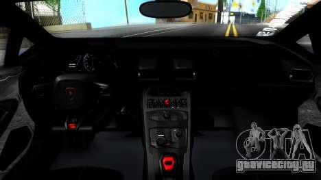 Lamborghini Huracan LB Performance для GTA San Andreas вид изнутри