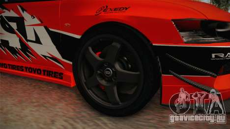 Mitsubishi Lancer Evolution IX MR Tokyo Drift для GTA San Andreas вид сзади