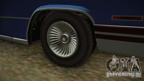 GTA 5 Albany Manana 4-doors IVF для GTA San Andreas вид сзади