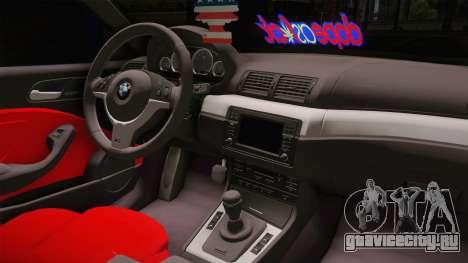 BMW 3 Series E46 Cabrio King для GTA San Andreas вид изнутри