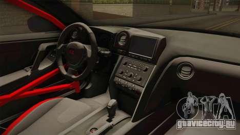 Nissan GT-R LB Walk Team Dice для GTA San Andreas вид изнутри