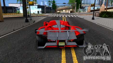 GTA V Grotti Prototipo для GTA San Andreas вид сзади слева