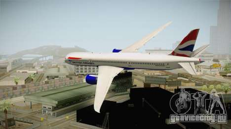 Boeing 787 British Airways для GTA San Andreas вид справа