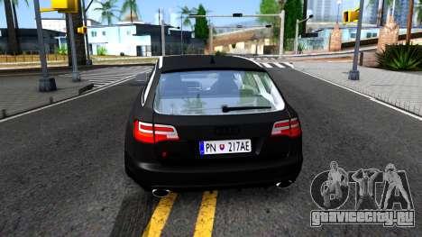 Audi RS6 Avant для GTA San Andreas вид сзади слева