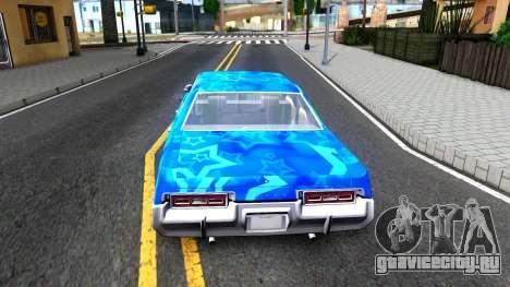 Dodge Monaco 1974 Blue Star для GTA San Andreas вид сзади слева