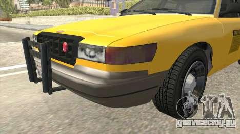 GTA 4 Taxi Car SA Style для GTA San Andreas вид сзади