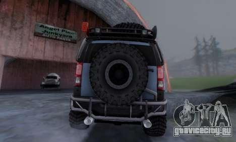 HUMMER H3 OFF ROAD для GTA San Andreas вид сзади