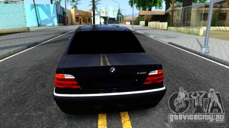 BMW 730i E38 для GTA San Andreas вид сзади слева