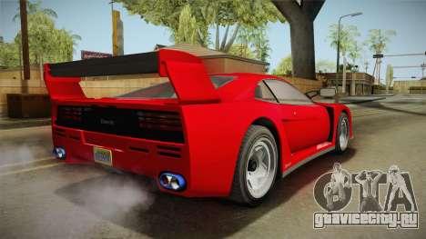 GTA 5 Grotti Turismo Classic IVF для GTA San Andreas вид сзади слева