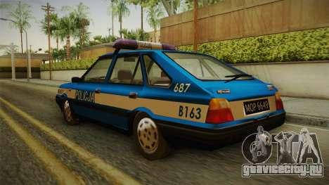 FSO Polonez Caro Policja для GTA San Andreas вид сзади слева