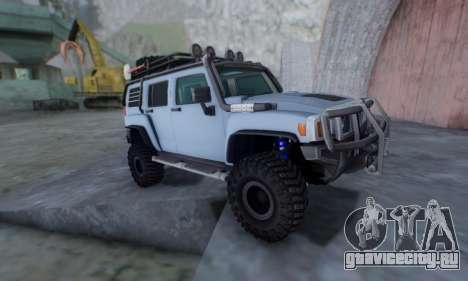 HUMMER H3 OFF ROAD для GTA San Andreas вид сзади слева