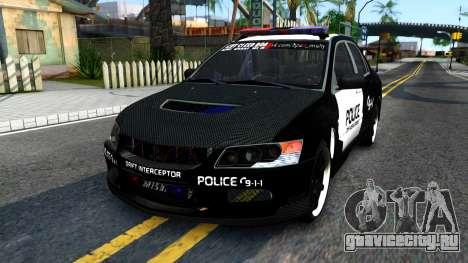 Mitsubishi Lancer Evolution IX Police для GTA San Andreas