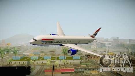 Boeing 787 British Airways для GTA San Andreas вид сзади слева