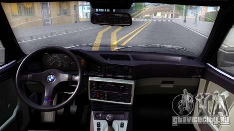 BMW M5 E28 для GTA San Andreas вид изнутри