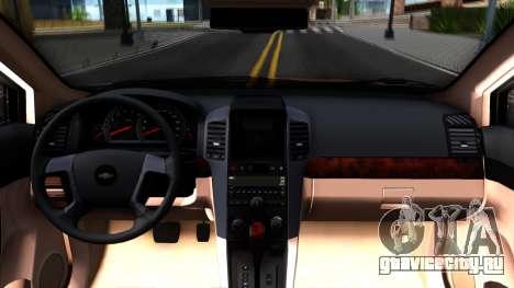 Chevrolet Captiva для GTA San Andreas вид изнутри