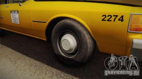 Chevrolet Caprice Taxi 1986 IVF для GTA San Andreas вид сзади