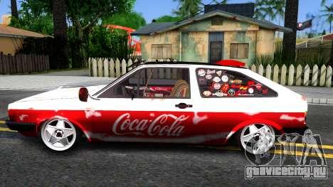Volkswagen Gol Coca-Cola для GTA San Andreas вид слева