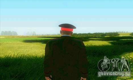 Капитан милиции России в кителе для GTA San Andreas третий скриншот