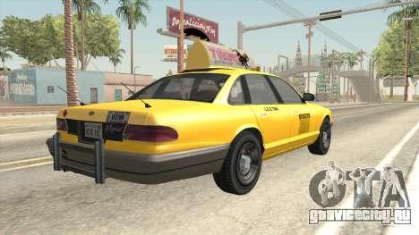 GTA 4 Taxi Car SA Style для GTA San Andreas вид слева