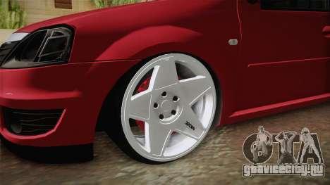 Dacia Logan для GTA San Andreas вид сзади