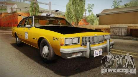 Chevrolet Caprice Taxi 1986 IVF для GTA San Andreas вид справа