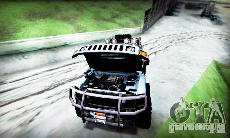 HUMMER H3 OFF ROAD для GTA San Andreas вид изнутри