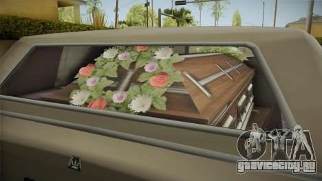 GTA 5 Albany Emperor Hearse для GTA San Andreas вид изнутри