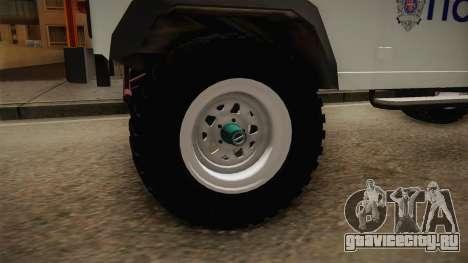 Land Rover Defender 110 Полиција для GTA San Andreas вид сзади