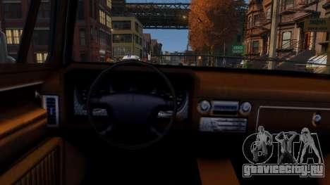 Declasse Rancher Sportside для GTA 4 вид изнутри